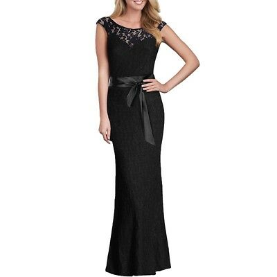 US Women Lace Sleeveless Bodycon Formal Party Prom Gown Bridesmaid Long Dress