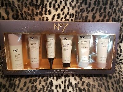 Brand New No7 Bright And Beautiful Skin Care Collection Christmas Gift Box