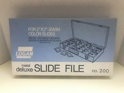 """Logan Electric Slide File #200 For 2 x 2"""" Slides - BRAND NEW IN BOX"""