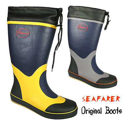 Mens Seafarer Sailing Boots Boat Deck Yachting Wellies Wellington Boots Size