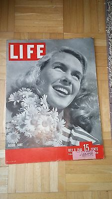 Life Magazine July 8, 1946 Good Condition-Free Shipping!!!