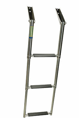 AISI 316 Top Mount 3 Step Telescopic Ladder
