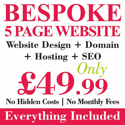 Bespoke Website / Web Design Personal Or Business 5 Pages