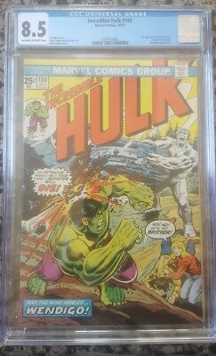 Incredible Hulk # 180 CGC 8.5 OW/White (Marvel, 1974) 1st appearance Wolverine
