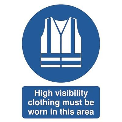 Safety Sign High Visibility Clothing Must be Worn A4 PVC MA02150R [SR11232]