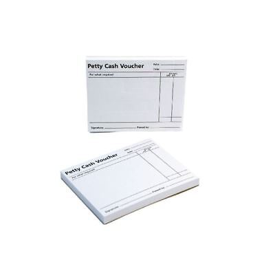 Q-Connect White Petty Cash Voucher Pad 125x101mm (Pack of 10) KF00103 [KF00103]