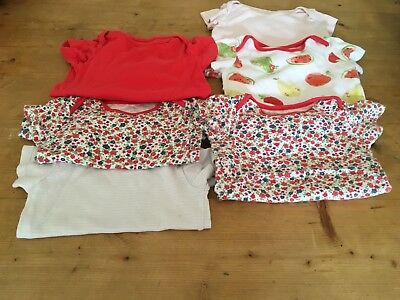 Small Bundle Of Girls 9-12months Short Sleeved Vests - TU
