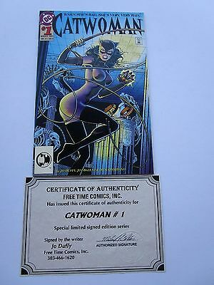 1993 Catwoman # 1 In Near Mint Condition, Signed And Numbered(12/93) By Jo Duffy