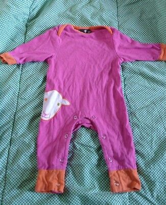 herdy baby romper baby grow pink 0-3 months