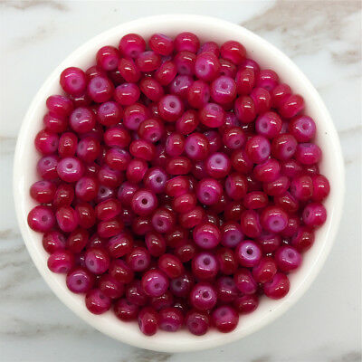 NEW 50PCS 6mm Glass  Pearl Spacer Loose Oblate Beads Jewelry Making Craft 03