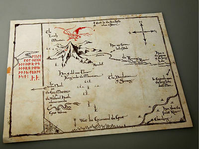 THE-Lord-of-The-Rings-Middle-Earth-The-Hobbit-Sorin-treasure-map-Prop-collect