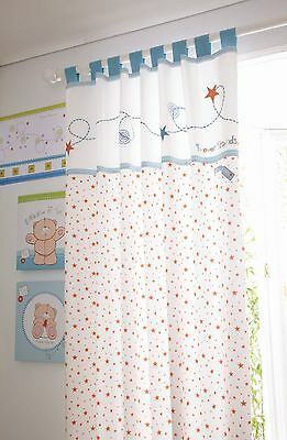 Forever Friends  Baby Nursery Blue Star Tab Top 132x163cms Curtain Pair