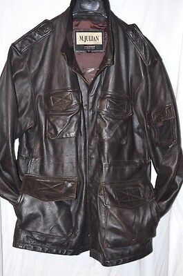 Vintage M. Julian Leather Jacket Black Size L