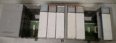 Allen-Bradley SLC 500 system, 10 slot chasis, P2 Power Supply, 6 IO cards