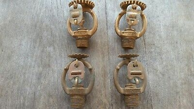 Vintage Lot Of 4 Brass Fire Sprinkler Heads--Csb/reliable--Unused
