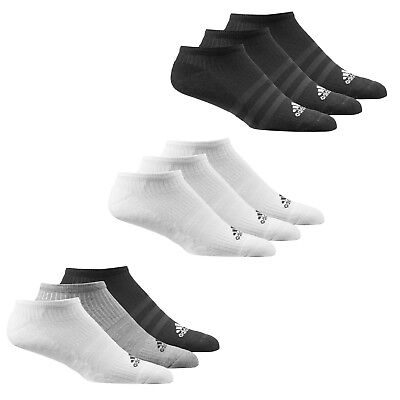 adidas Performance No Show Half Cushioned Liner Trainer Socks 3 pack