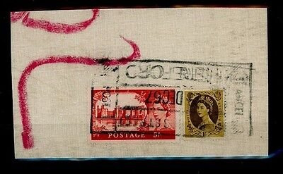 SS4077 1967 GB High Values Red Castle 5/- & 1/- Used on Parcel Piece