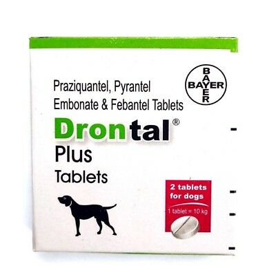 Bayers Drontal Plus Dewormer For Dog -10 Tablet Allwormer Tapewormer Roundworm