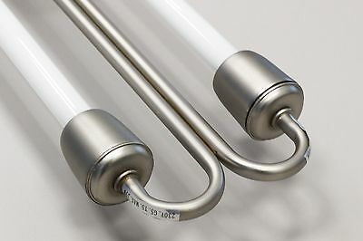 Satin Chrome Kitchen Florescent Light 2x 39 Watt Florescent Tubes Strip Light
