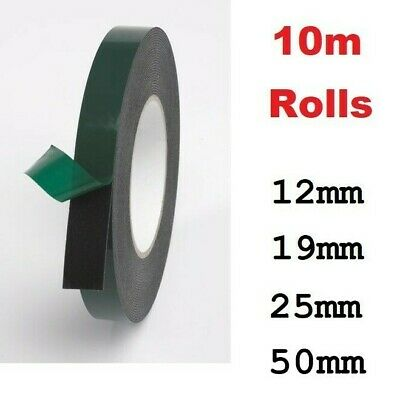 Black Double Sided Automotive Permanent Self Adhesive Foam Car Trim Body Tape