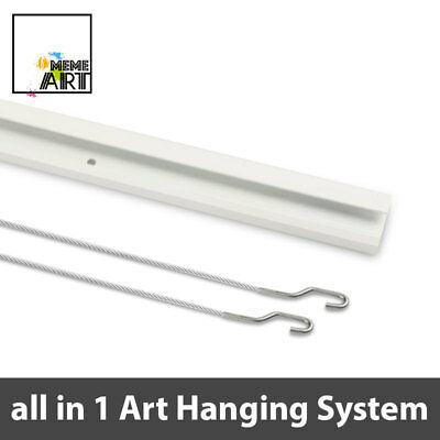 2 x Picture Hanging System with Rail and Art Hanging Kit - include ALL parts