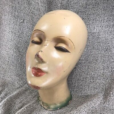 Antique Deco Female Mannequin Head - Old King Cole Canton, OH - 1930s