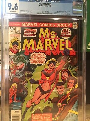 Ms Marvel # 1 Cgc 9.6 First Appearance Ms Marvel 1st App Movie Coming!