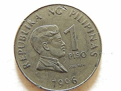 1996 Philippines One (1) Piso Coin