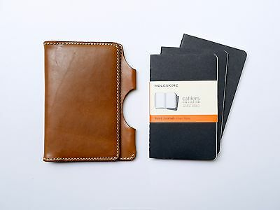 NEW Kendal & Hyde WHISKEY Leather Pocket Notebook Cover w/ FREE NOTEBOOKS
