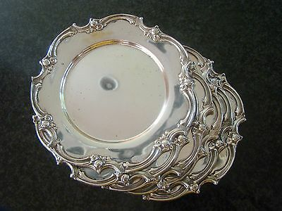 Antique 6 STERLING SILVER Bread PLATES / CHARGERS Trays 38.7 OZ, 1086 grams!