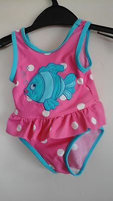 pink baby swimsuit size 3 to 6 months Mothercare