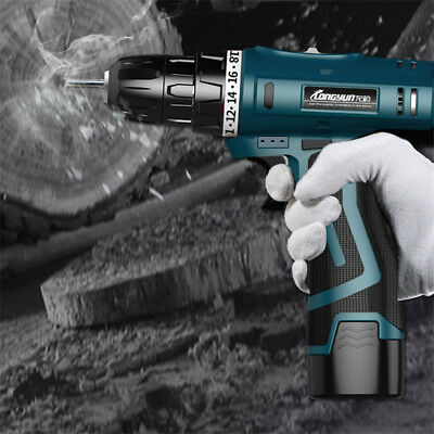 16.8V Rechargeable Electric Cordless Hand Drill Lithium Screwdriver Power Tools