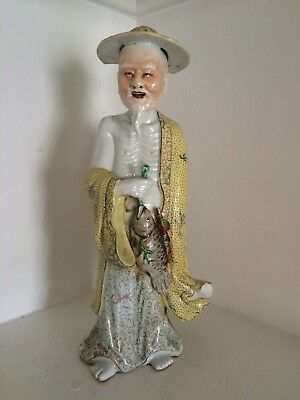Antique Porcelain Chinese Figure Very Old