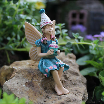 "3"" My Fairy Gardens Mini Figure - ""Morgan's Party"" - Birthday Miniature Figurine"