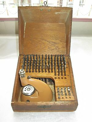 Vintage Boxed Watchmakers Clockmakers Jeweller Staking Tool Set Swiss Made