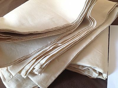 UNUSED LARGE FRENCH LINEN METIS SHEET/fabric. thick,stubby weave