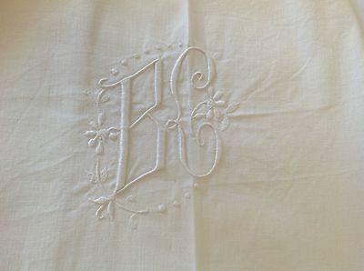 French Linen Metis Sheet Bc Mono Ladder Stitch. Double Vgc