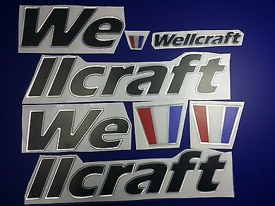 "wellcraft boat Emblem 30"" BLACK CHROME Stickers - Resistant to mechanical shock"