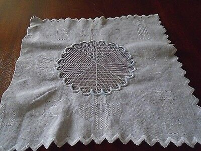Lace and darning sampler