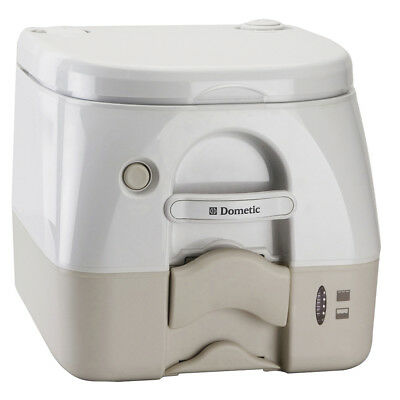 Dometic - 974 Portable Toilet 2.6 Gallon - Tan w/Brackets