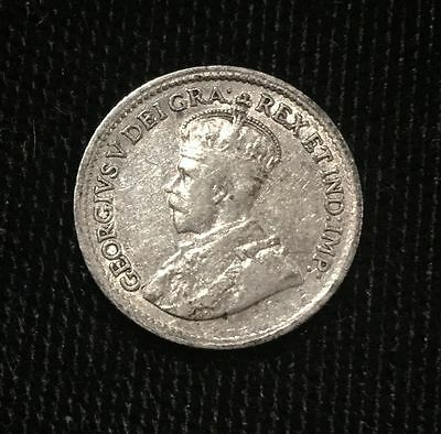 Canada 5 Cents 1918 Silver Canadian  Coin