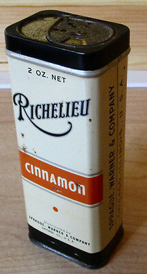 Vintage Richelieu Brand CINNAMON - Sprague Warner Co. Chicago - 2 oz Tin Full