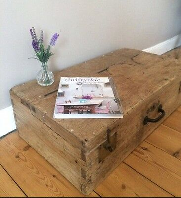 Gorgeous Antique Pine Carpenter Box, Coffee Table