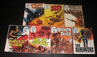 WAR Picture Library Comics x 7, old.