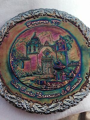 Fenton Christmas collector plate 1977