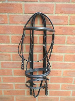 *Sale* Leather Padded Bridle With FREE FREE Reins All Sizes Black or Brown Sizes