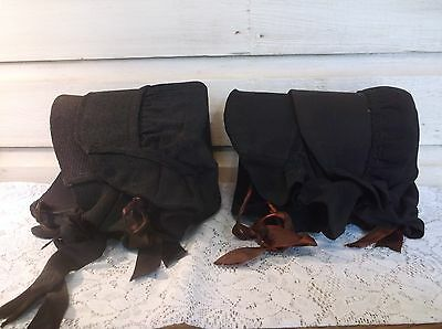 Amish Bonnets, Lot of (4), Authentic, Hand Made