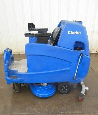 "Clarke Focus 34"" Ride On Disc Rider Warehouse Floor Scrubber Autoscrubber"