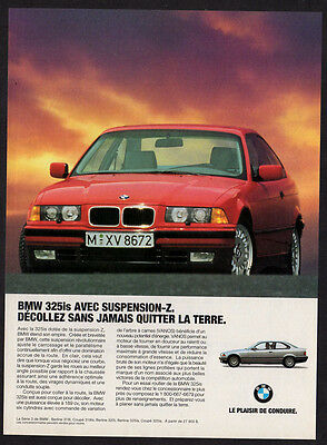 1994 BMW 325is Original Print AD - Red car photo, sunlight, 318is z-suspension