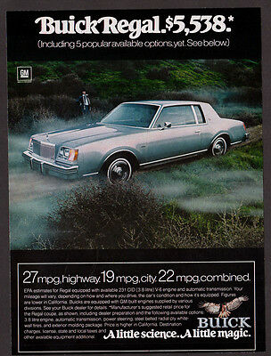 1978 BUICK Regal Vintage Original Print AD - Silver car photo, a little magic
